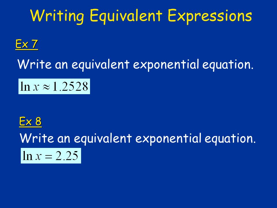Writing Equivalent Expressions