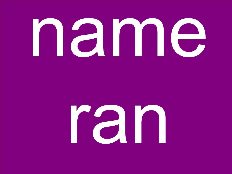 name ran