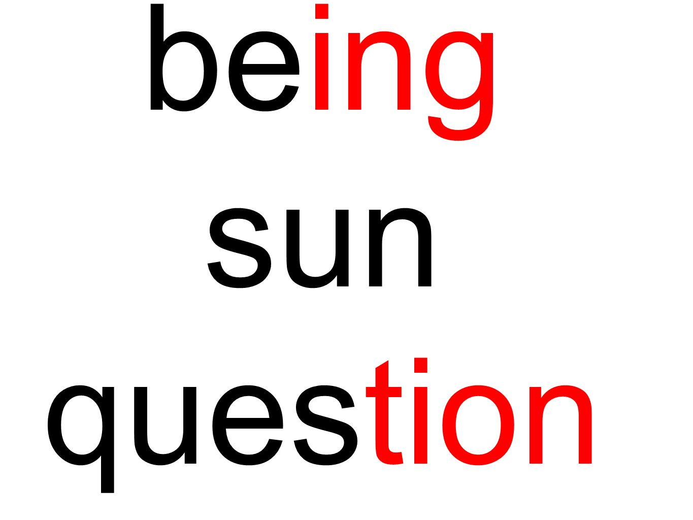 being sun question