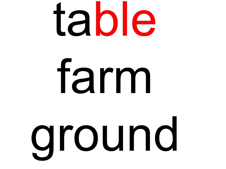 table farm ground