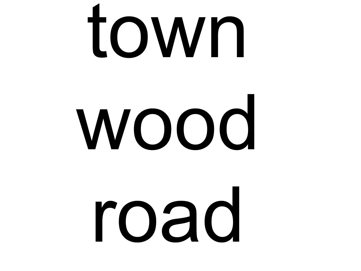 town wood road