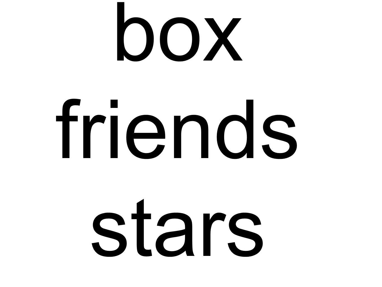 box friends stars