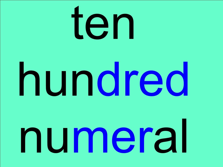 ten hundred numeral