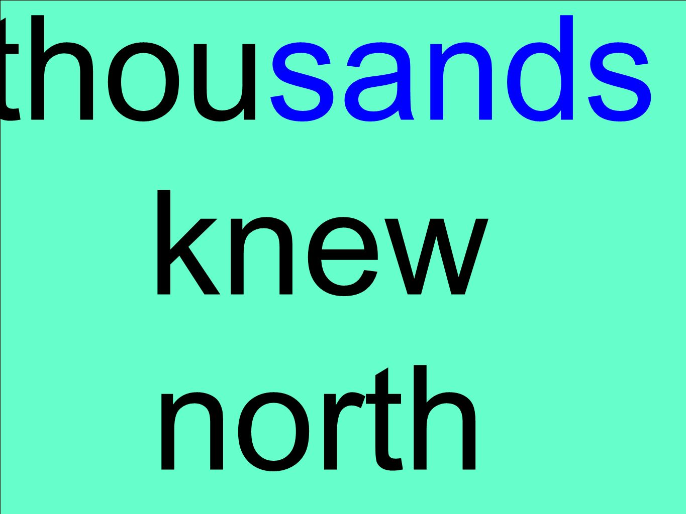 thousands knew north