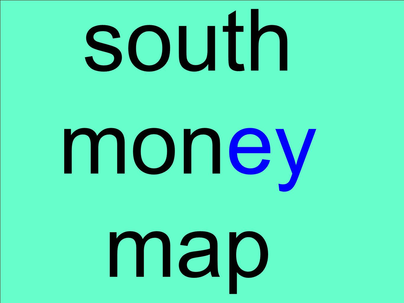 south money map