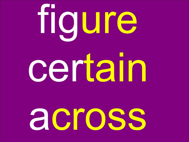 figure certain across