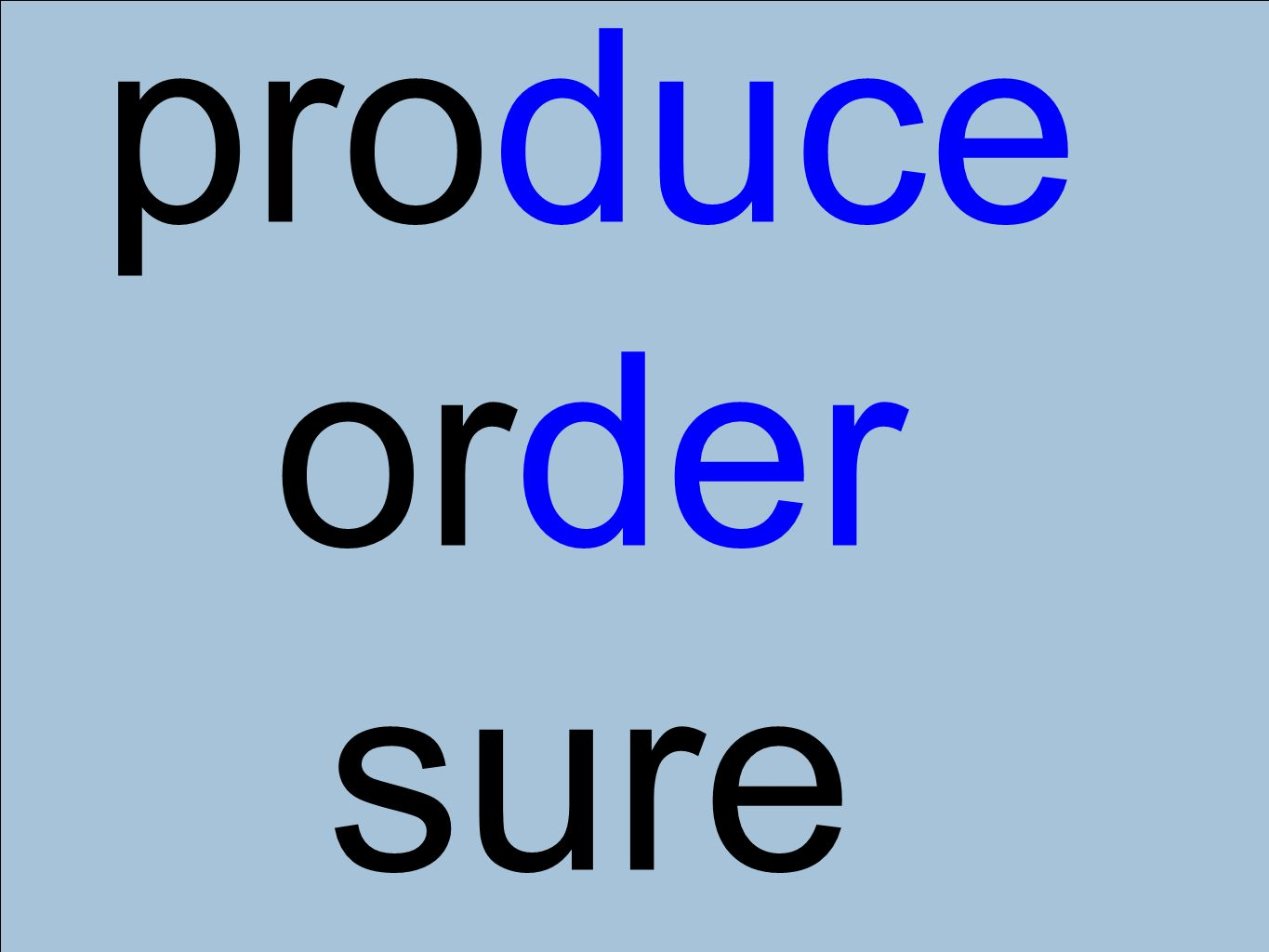 produce order sure