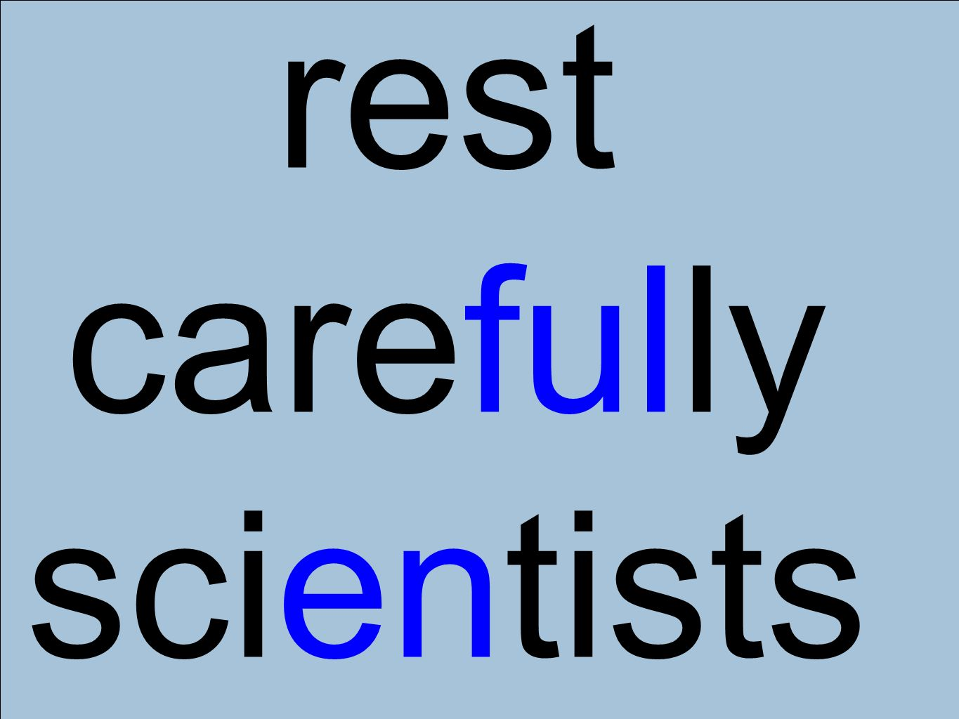 rest carefully scientists