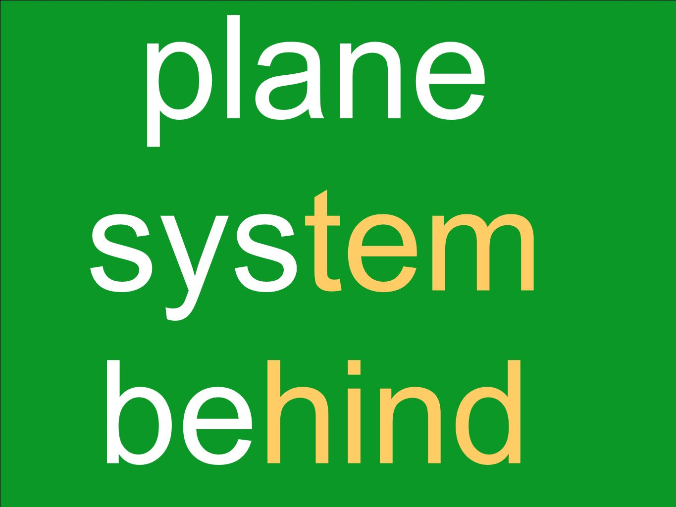 plane system behind