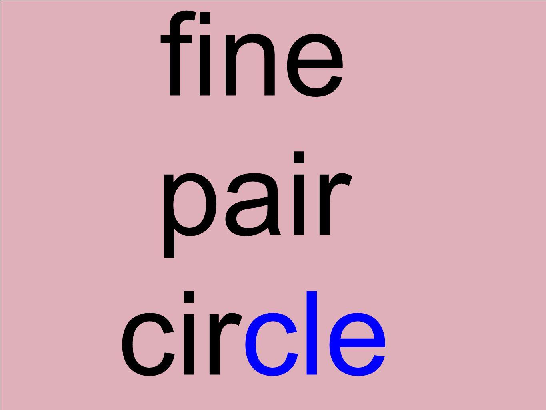 fine pair circle