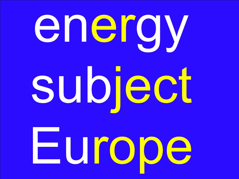 energy subject Europe