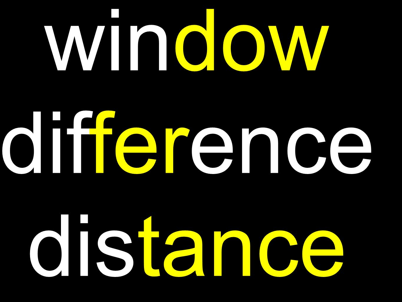 window difference distance