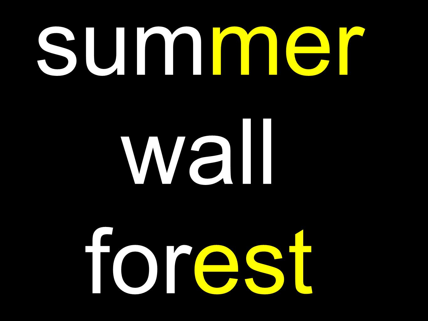 summer wall forest