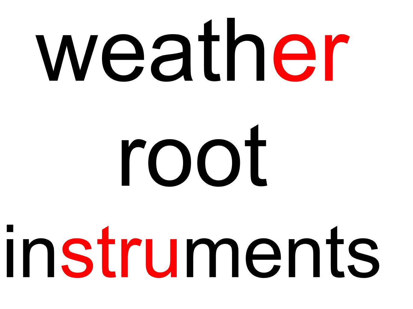 weather root instruments