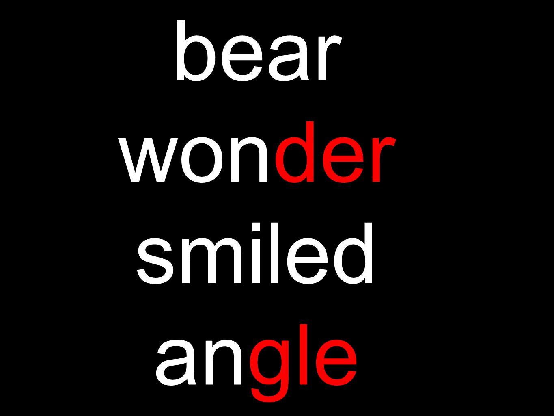 bear wonder smiled angle