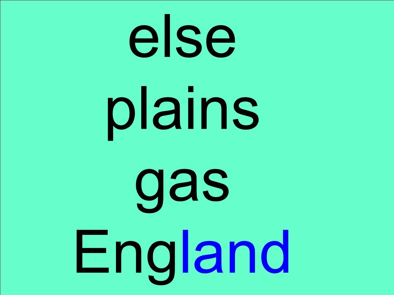 else plains gas England