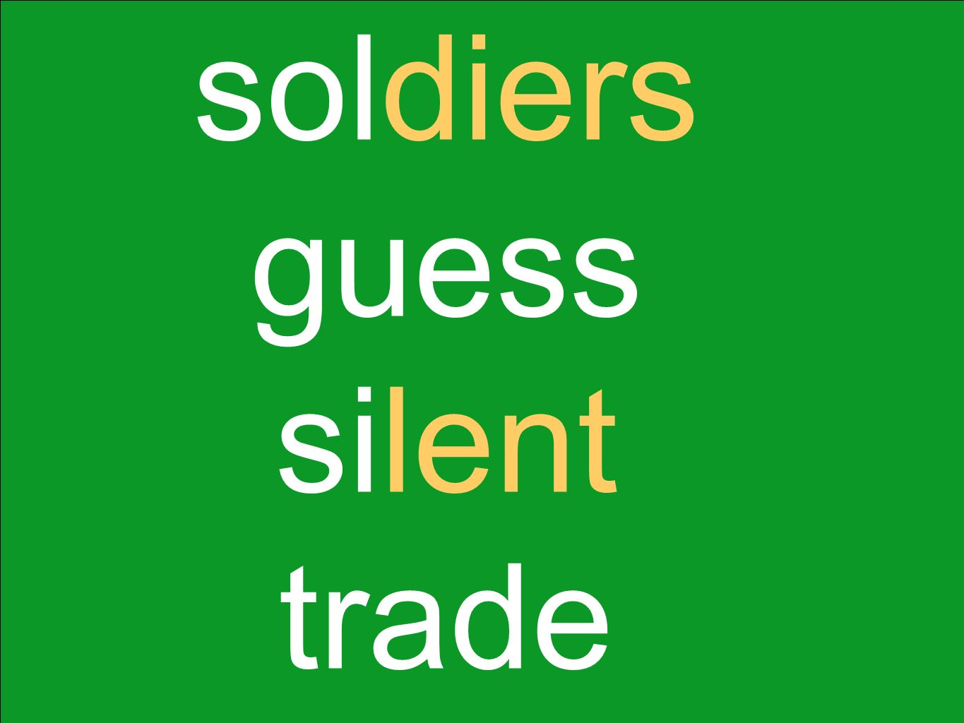 soldiers guess silent trade