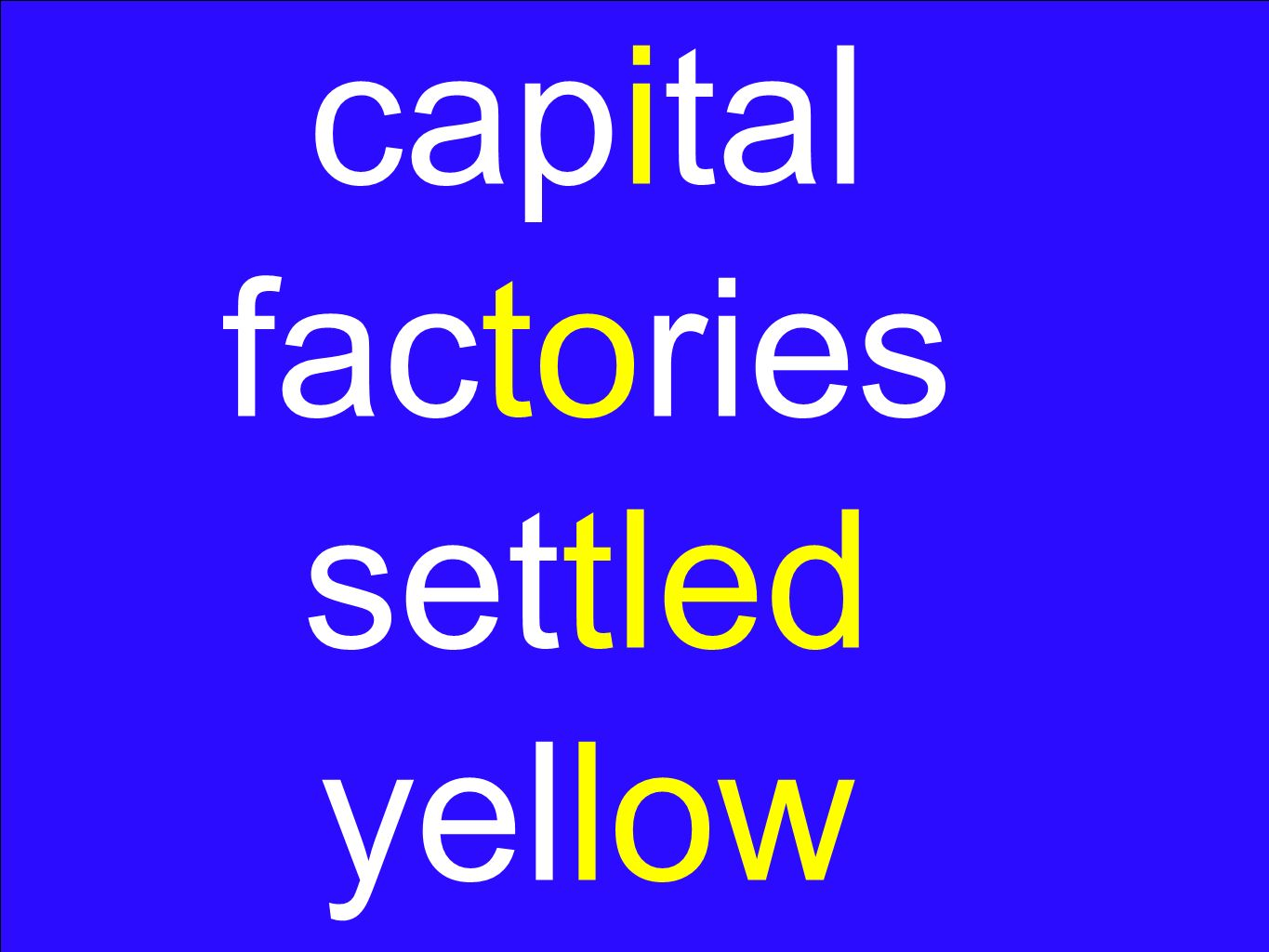 capital factories settled yellow