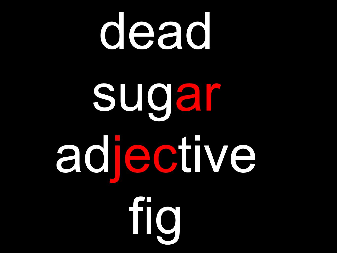 dead sugar adjective fig