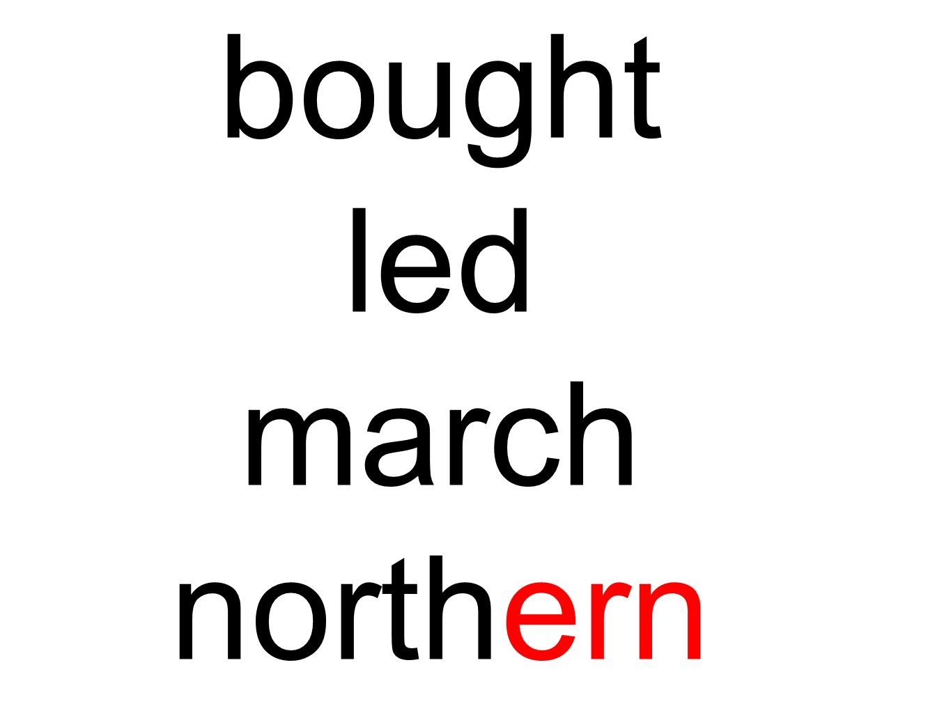 bought led march northern