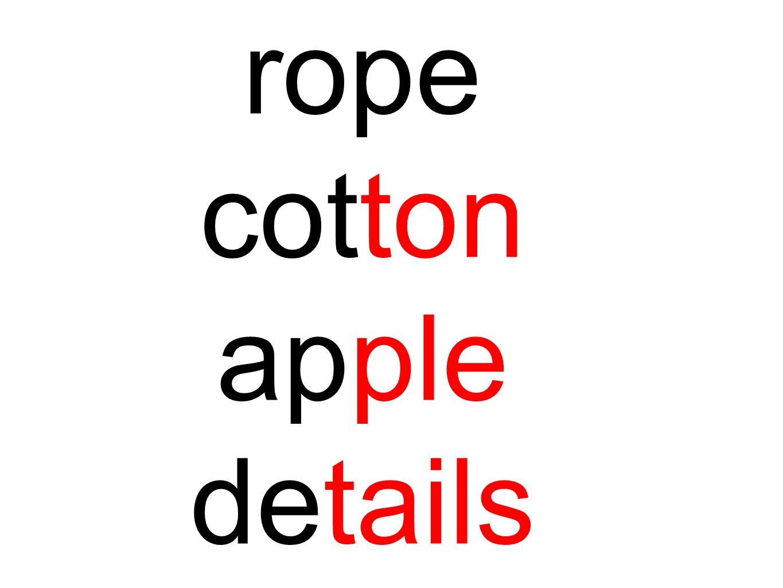 rope cotton apple details