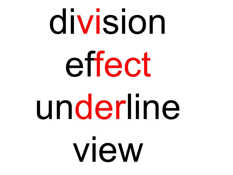 division effect underline view