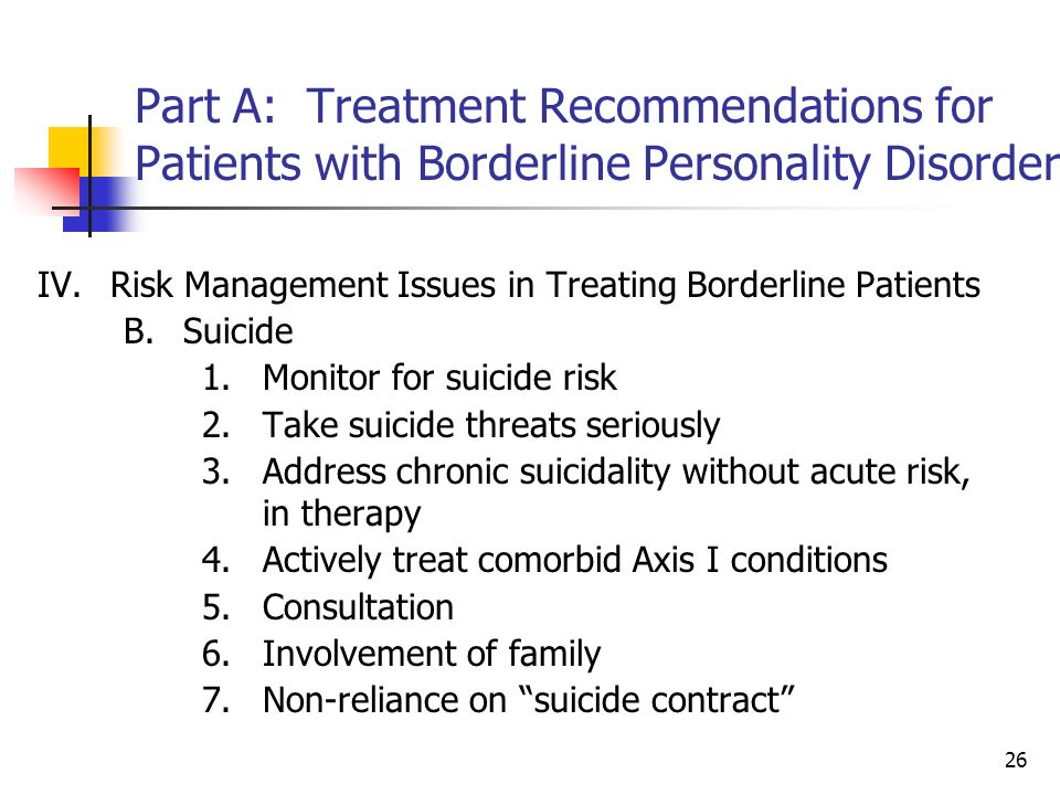 borderline personality disorder and known risk The public doesn't know much about the condition we hear about adhd, bipolar disorder and schizophrenia, but bpd is lesser known and is even overlooked by mental health specialists, some of whom fail to include it in their differential diagnosis when evaluating a patient even when kids are brought in for evaluation after having committed a crime, bpd is rarely consideredand it needs to be.