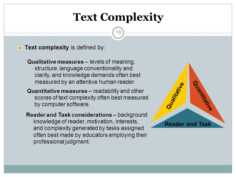Overview o Text Complexity