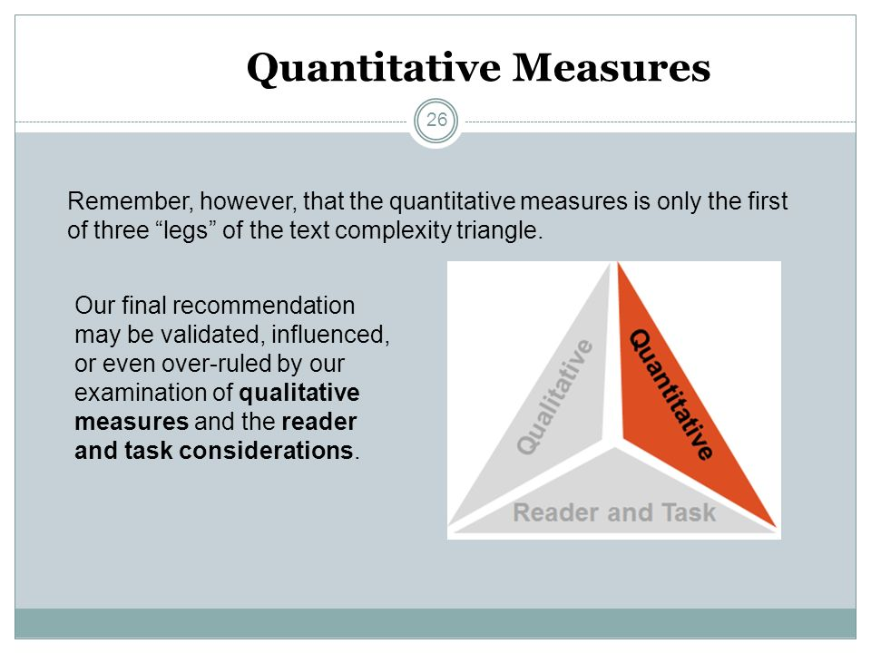 Quantitative Measures