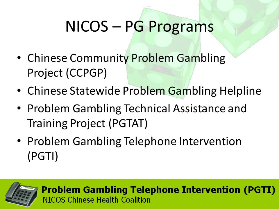 Chinese community problem gambling project black casino gold home page
