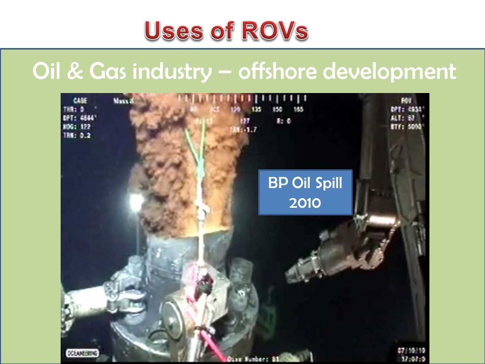 Oil & Gas industry – offshore development