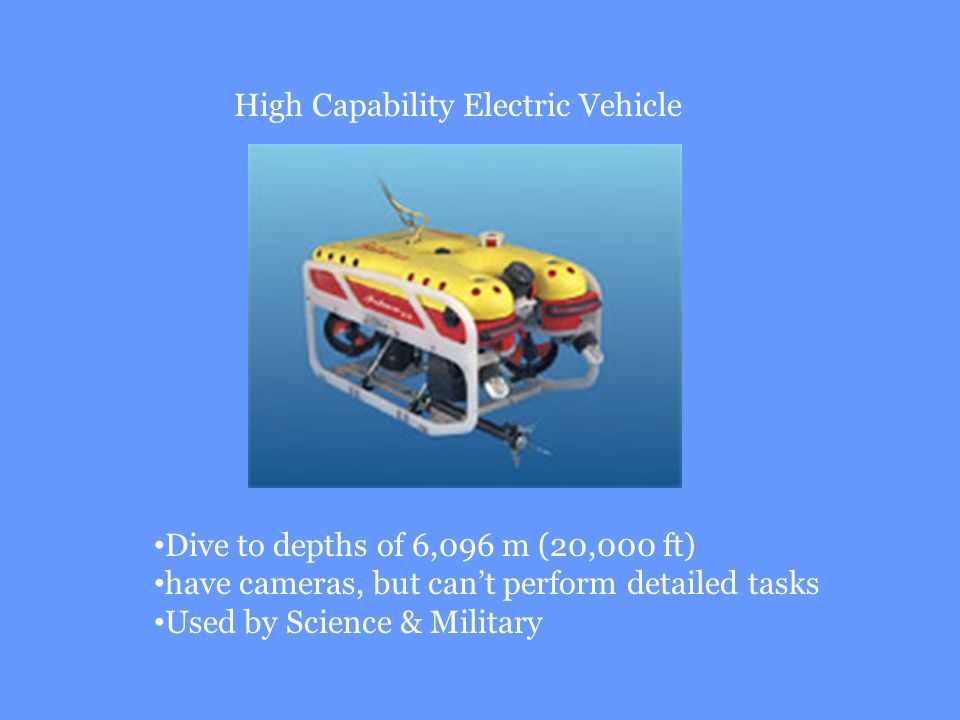 High Capability Electric Vehicle