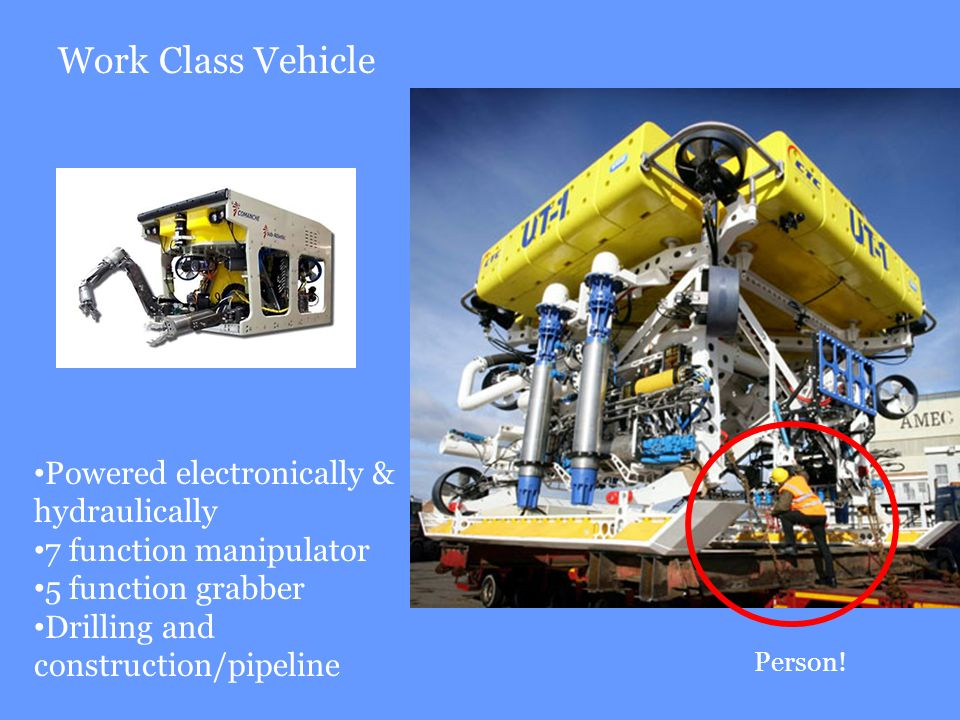 Work Class Vehicle Powered electronically & hydraulically