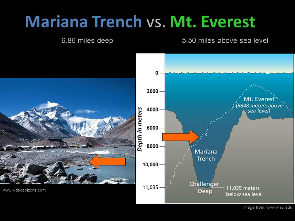 Mariana Trench vs. Mt. Everest