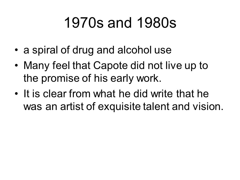 1970s and 1980s a spiral of drug and alcohol use