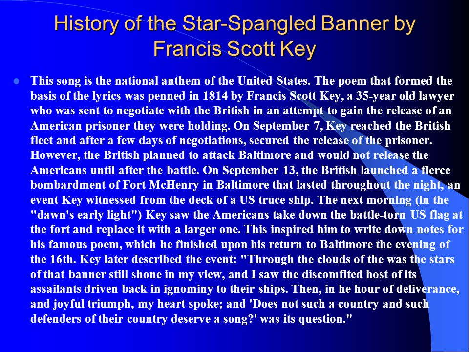 History of the Star-Spangled Banner by Francis Scott Key