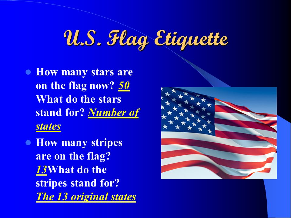 U S Flag Etiquette Ppt Video Online Download