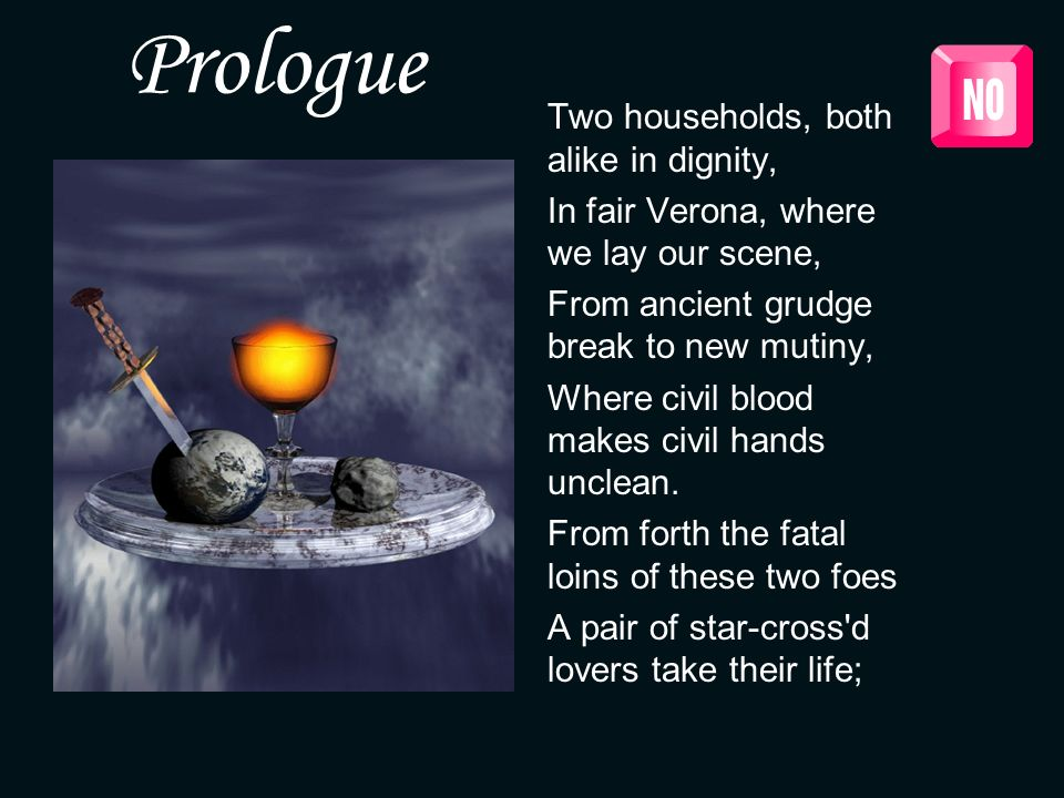 Prologue Two households, both alike in dignity,