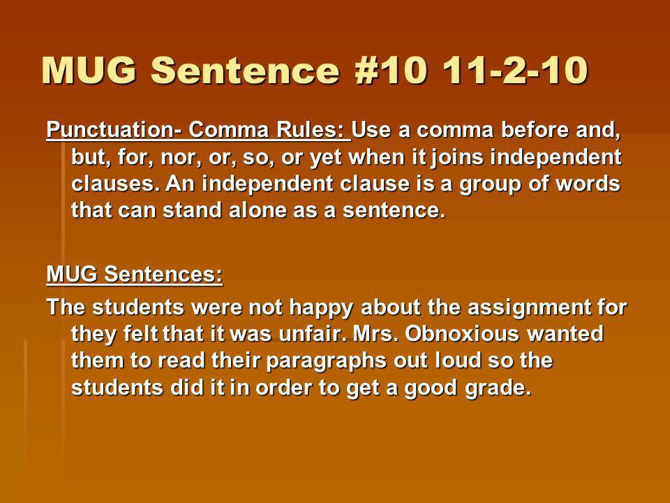 MUG Sentence #10 11-2-10