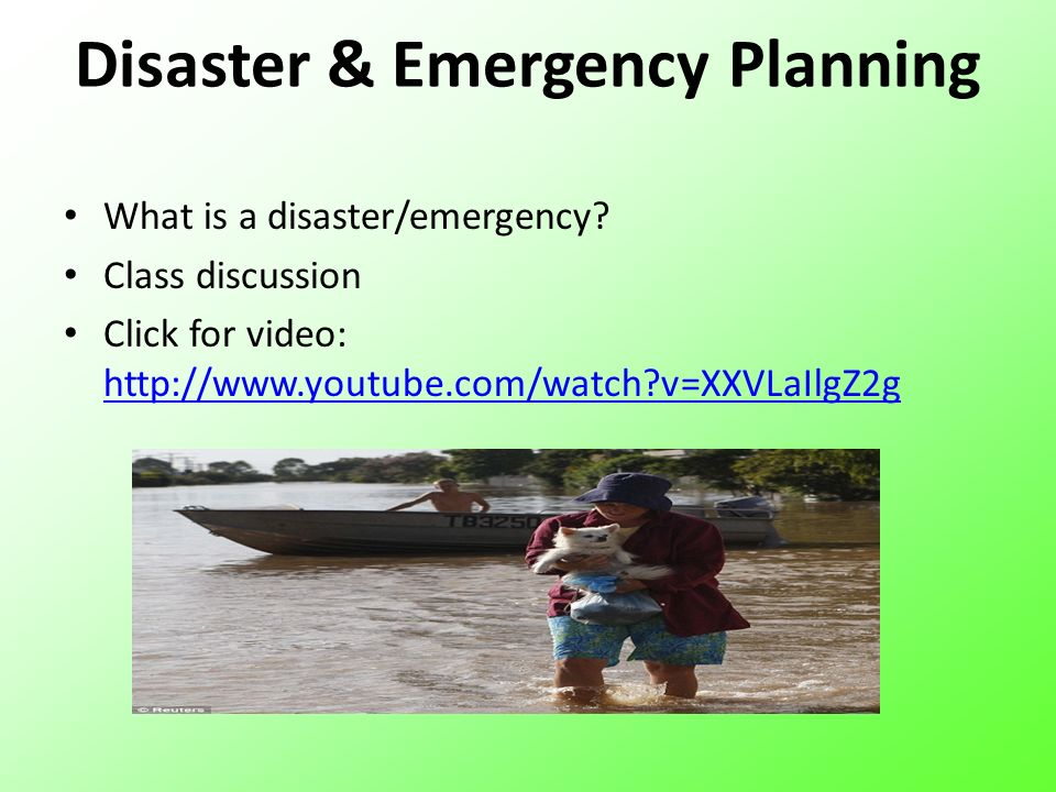Disaster & Emergency Planning