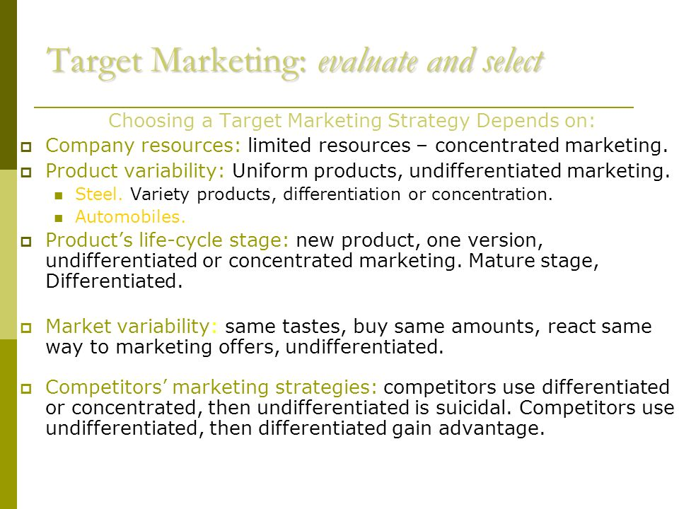 Customer –Driven Marketing Strategy Creating value for ...