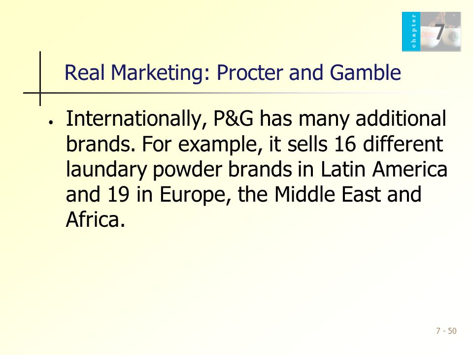 procter and gamble advertising strategy and marketing goals Procter and gamble's tide analyzing the status, strategies and resources of  businesses and their products or services is very essential as it allows operators  to.