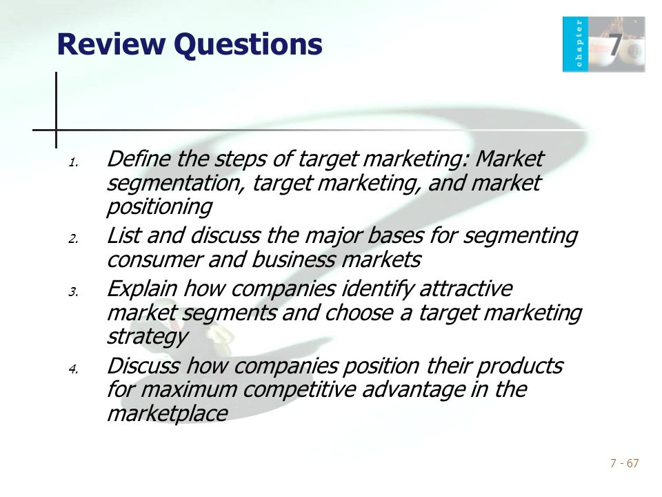 how companies identify attractive market segments and choose a target marketing strategy Steps in market segmentation, targeting, and positioning marketing strategy market 17 target marketing processstep 2 select target select target segments.