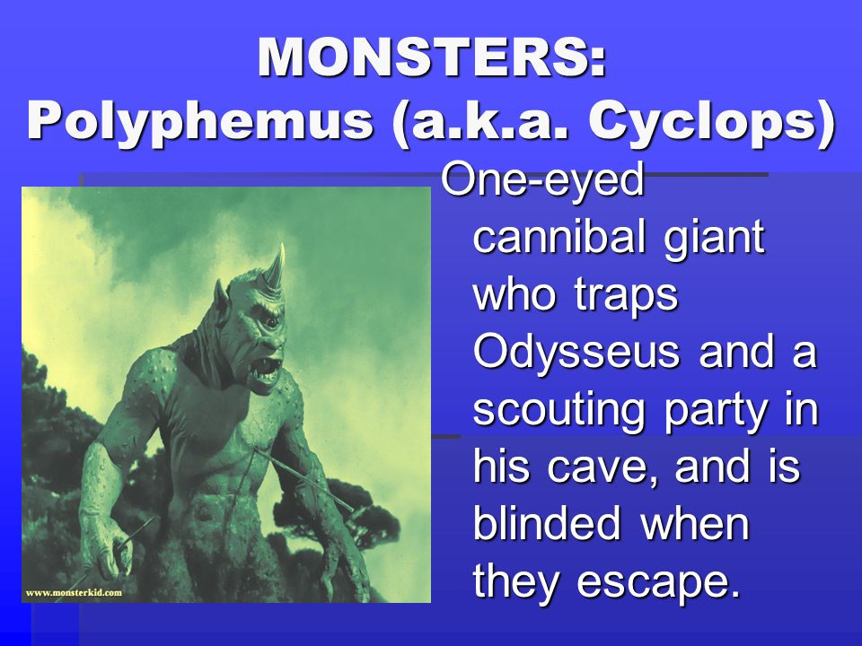 MONSTERS: Polyphemus (a.k.a. Cyclops)