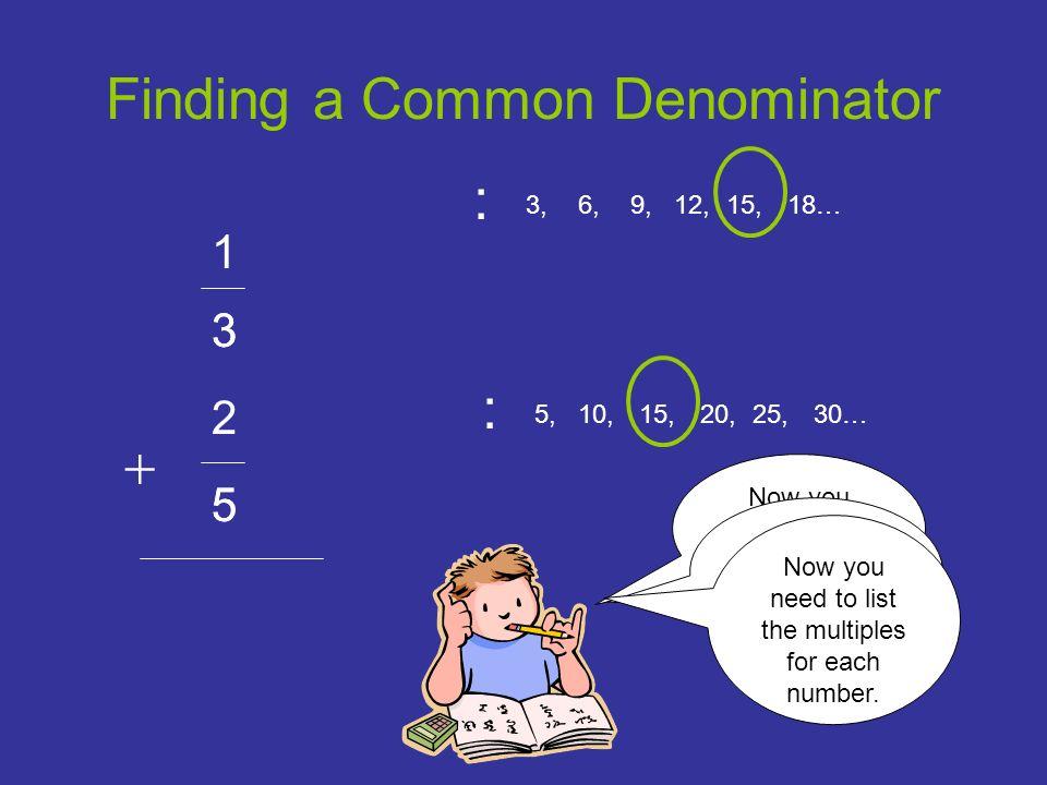 Finding a Common Denominator