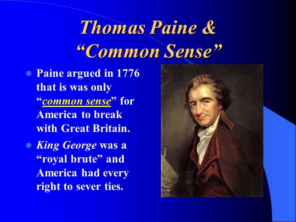 Thomas Paine & Common Sense