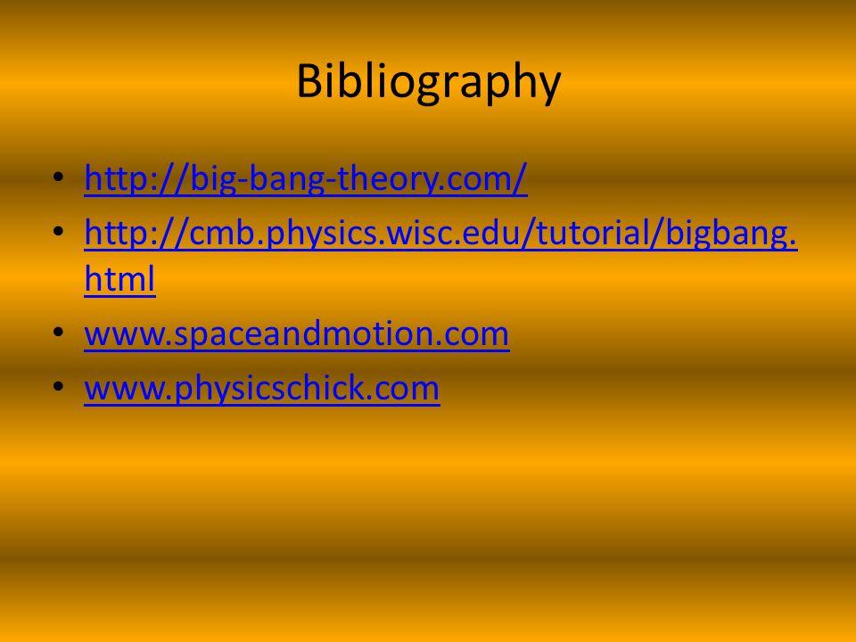 Bibliography http://big-bang-theory.com/