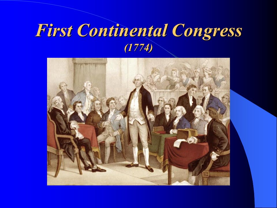 First Continental Congress (1774)