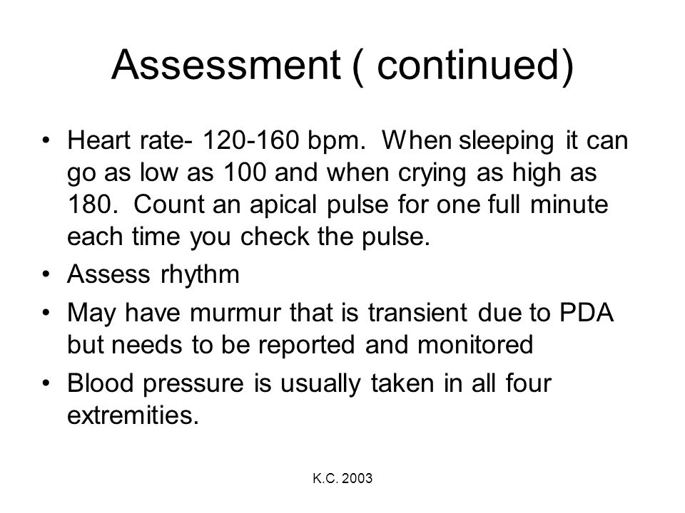 Assessment ( continued)