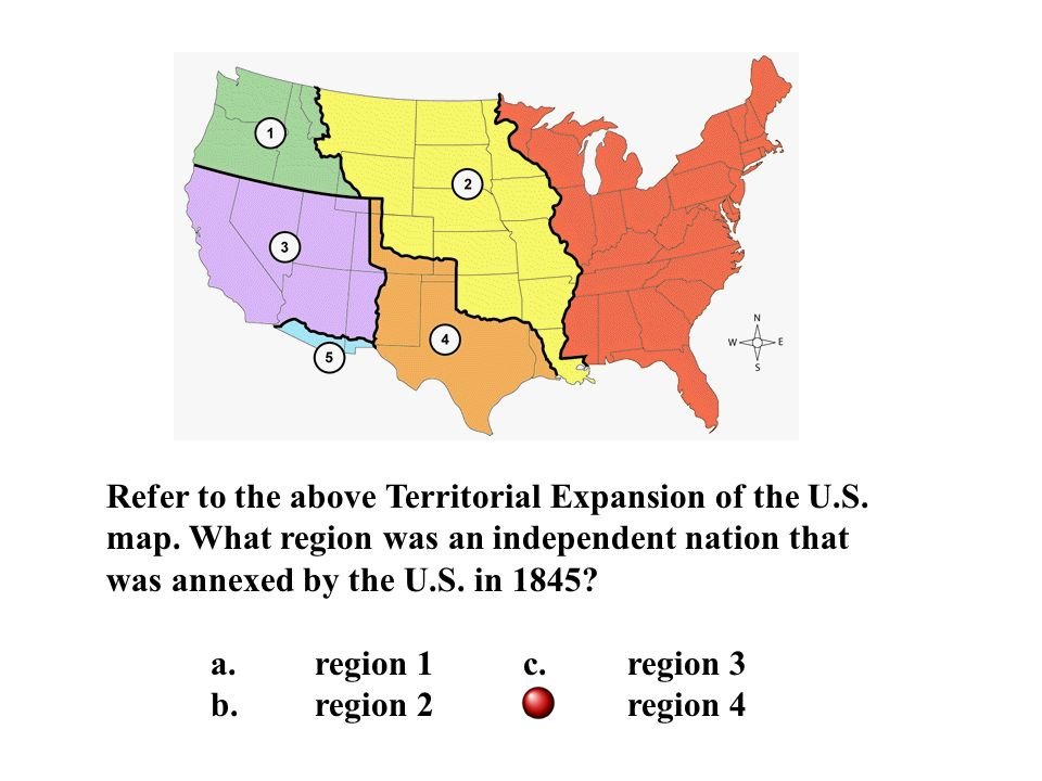 Refer To The Above Territorial Expansion Of The U S Map